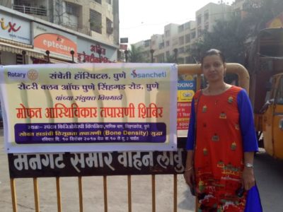 Free orthopedic check up and treatment camp in association with Sancheti Hospital